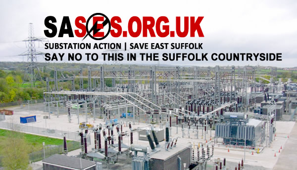 No Substation in Friston. Say not to industrialisation of the Suffolk Countryside.