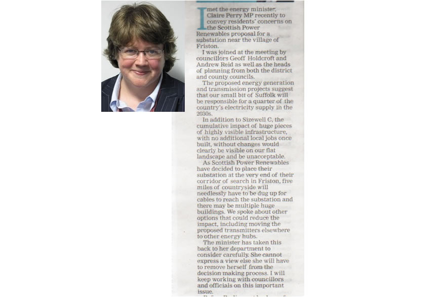 EADT - Therese Coffey column 8th August 2018.