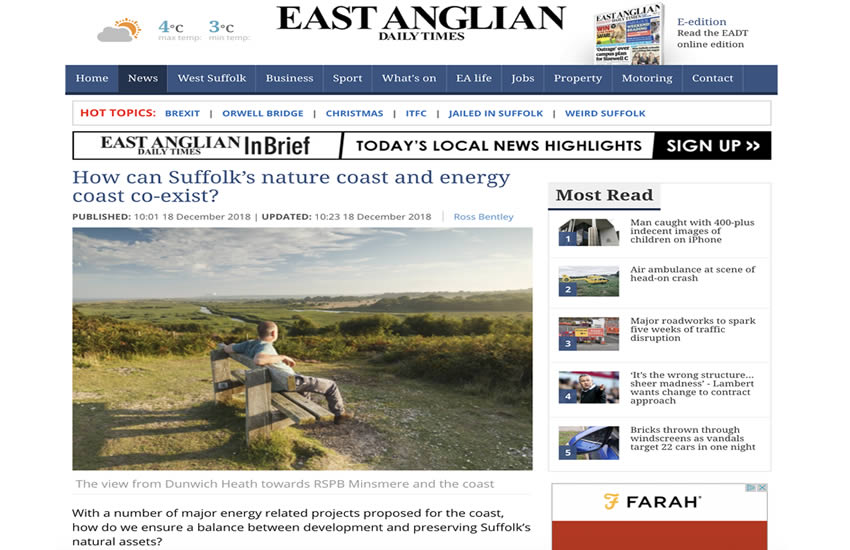 EADT - How can Suffolks nature coast and energy coast co-exist.