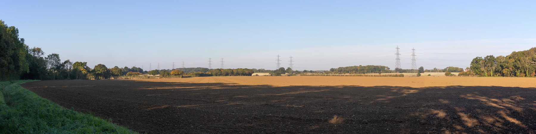 SPR proposed substation sites view from Grove Road, Friston before EA1N & EA2.