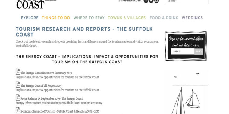 Suffolk Coast DMO - Energy projects could damage Suffolk coast tourism.