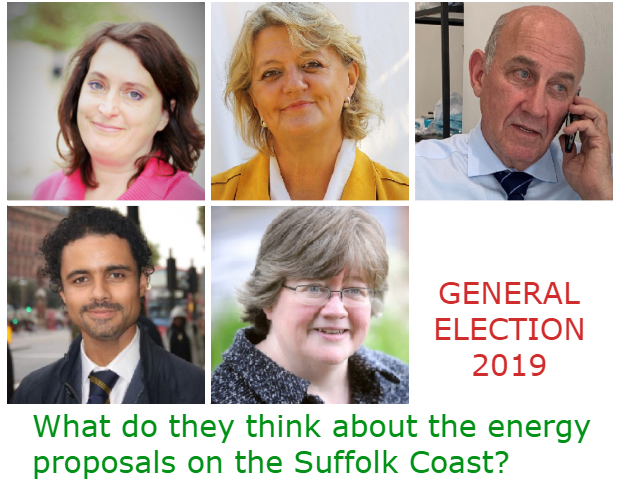 What do your Suffolk Coastal parliamentary candidates think about the Energy proposals.
