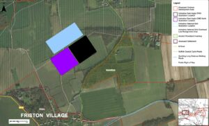 Proposed location of SPR EA1N and EA2 substations Grove Wood Friston.