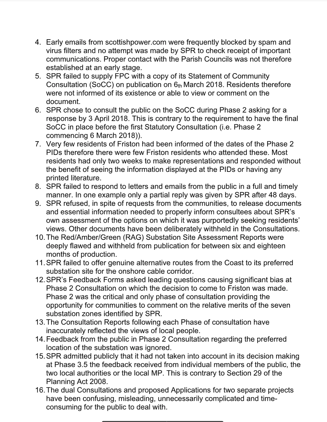 SASES letter to PINS EA1N & EA2 Consultations not acceptable page 2.