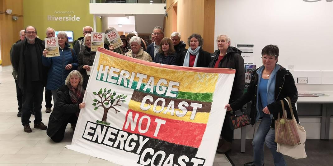 Community visit East Suffolk council head office. Heritage Coast not Energy Coast.
